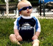 Solbrille - Baby Banz - Adventure - Blå Camouflage