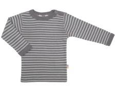 Trøje fra Joha i uld / silke - Dusty brown stripe