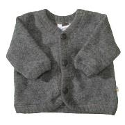 Cardigan fra Joha - Soft Wool - Dark Grey