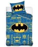 Batman Logo Sengetøj 2i1 design - 100 Procent Bomuld