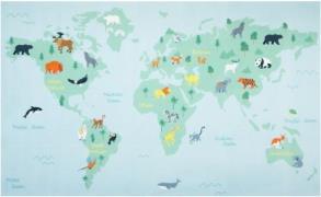 Verdens Kortet Deluxe gulvtæppe til børn 120x200