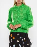 Ganni The Julliard Mohair Sweater Grön