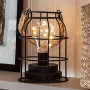 Rund LED-lanterne af metal