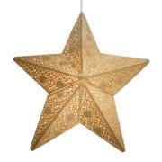 By Rydéns Etoile hængelampe, stjerne, 30 cm, guld