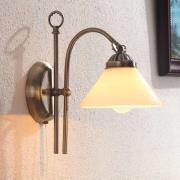 Antikt fremtonende væglampe Otis