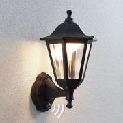 Udendørs LED-væglanterne Iavo med sensor