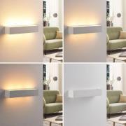 Arya - LED-væglampe i hvid gips