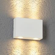 Henor - LED-udendørsvæglampe, 4 lysk., hvid