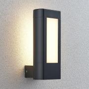 Udendørs LED-væglampe Mhairi, firkantet