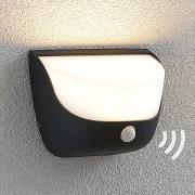 Udendørs LED-væglampe Aremia med bevægelsessensor