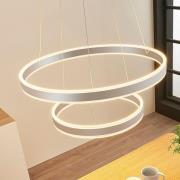 Lyani LED-hængelampe, 2 ringe under hinanden