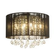 LED loftlampe Sierra med silkeskærm og vedhæng