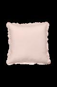 Pudebetræk Candice Frill i vasket hør, 65x65 cm