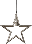 Metalstjerne Rå 45 cm