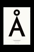 Poster Å, 50x70 cm