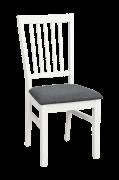 Wittskär stol hvid/hvidt træsæde 2-pak