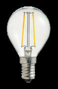 Pære E14 LED Filament Globe Klar 1W