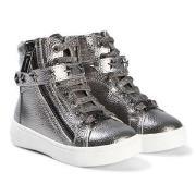 Michael Kors Silver Ivy Cadet Zip Sneakers 23 (UK 6)