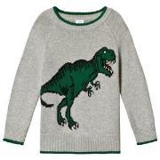 GAP Light Grey Dinosaur Sweater 18-24 mdr