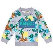 Kenzo Grey Hawaii Logo Sweatshirt 6 months