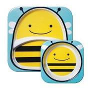 Skip Hop Zoo Plates Bee one size