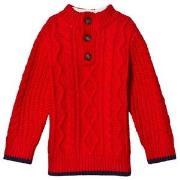 GAP Modern Red Henley Sweater 18-24 mdr