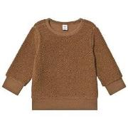 GAP Sherpa Crew Kola Nut Sweater 12-18 mdr