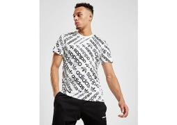 adidas Originals Trefoil All Over Print T-Shirt - White - Mens
