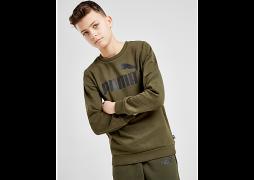 Puma     Core Logo Crew Sweatshirt Junior - Green - Kids