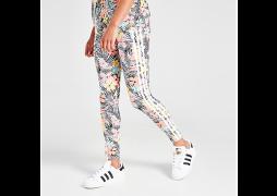 adidas Originals Girls' Palm All Over Print Leggings Junior - Black  -...