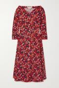 Marni - Pop Garden Floral-print Cotton-poplin Midi Dress - Black