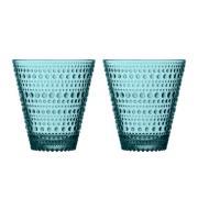 Kastehelmi glas 30 cl 2 stk havblå