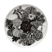 Siirtolapuutarha tallerken Ø 20 cm sort-hvid (Finland 100 år)