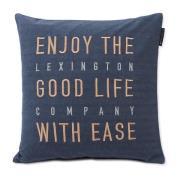 Good Life Herringbone Flannel pudebetræk 50x50 cm Steel Blue